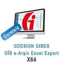 GDESIGN GIBEX GİB e-Arşiv Fatura Export